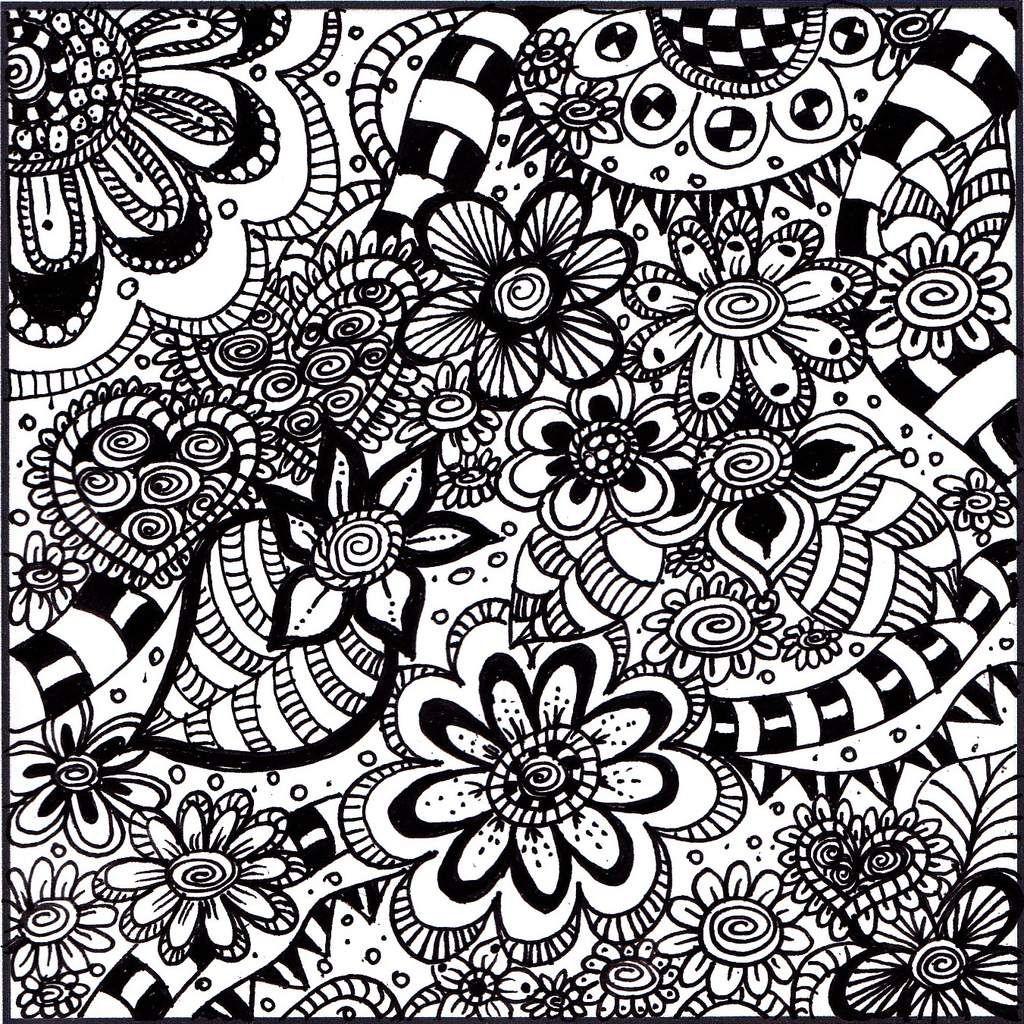 Zentangle en fleur