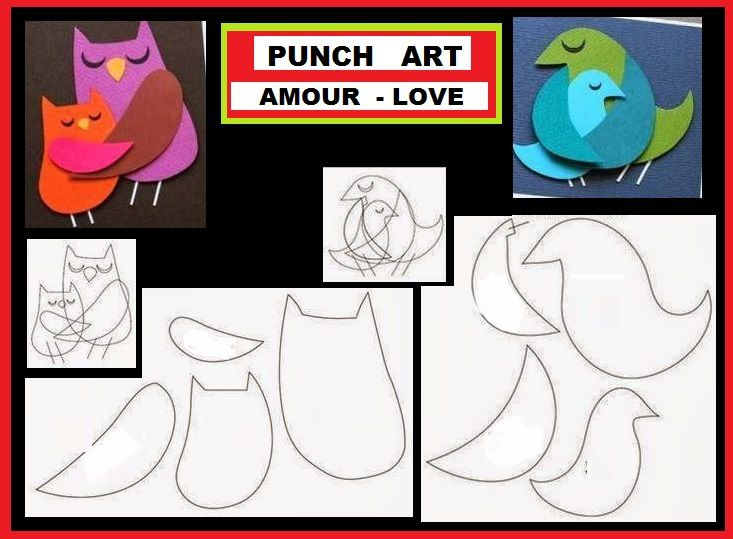 OLW HIBOU PUNCH ART AMOUR LOVE