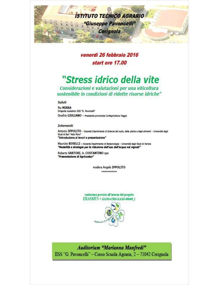 Cycle de conférences du lycée horticole italien