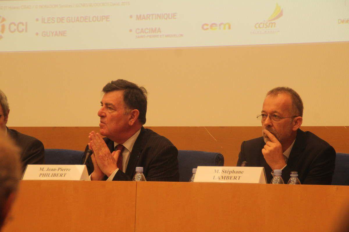 Jean-Pierre Philibert, Président de la FEDOM et Stéphane Lambert, Président du MEDEF de Guyane