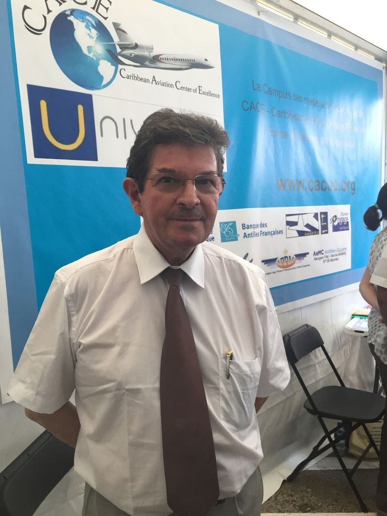 M. Roger Lalanne, facilitateur du projet Caraïbes de CACE ( Carribean Aviation of Excellence)