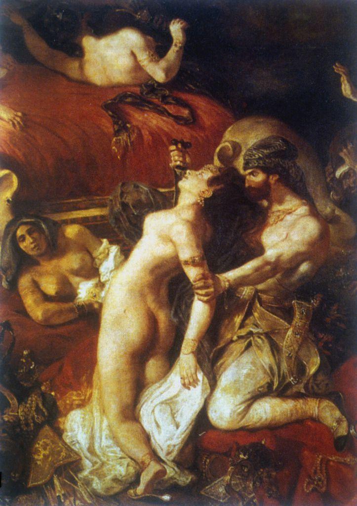 Delacroix : La mort de Sardanapale. 1827