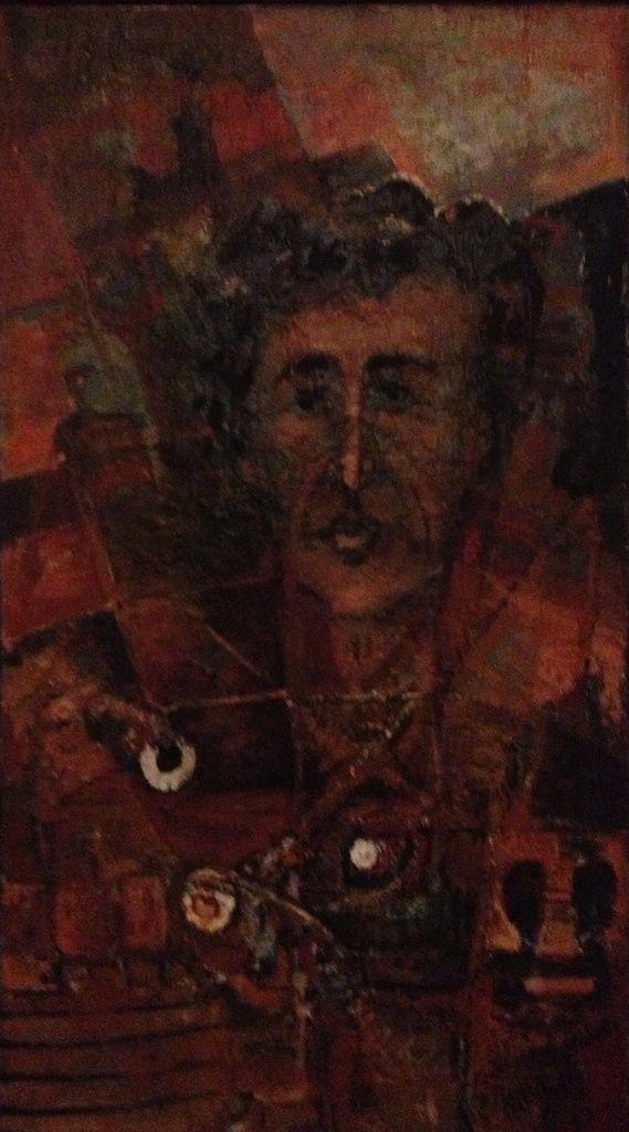 Bellakh, Portrait de Mohamed Médiène, h/t, 1992