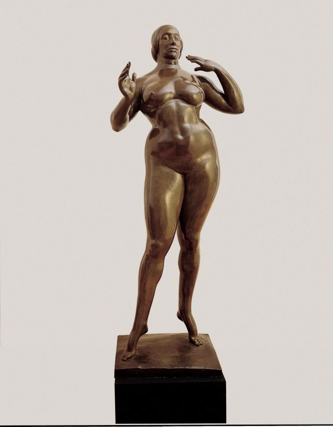 Isabel Dutaut-Naglé, vers 1913, Photo Gaston Lachaise - Gaston Lachaise, Elévation, Bronze, vers 1913 - 1915