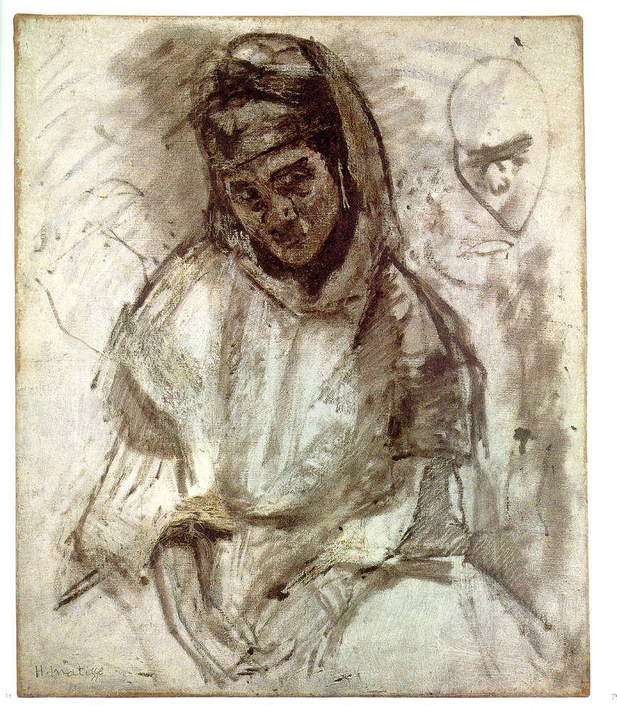 La Marocaine, Huile et fusain sur toile. 55 x 46 cm (collection particulière)