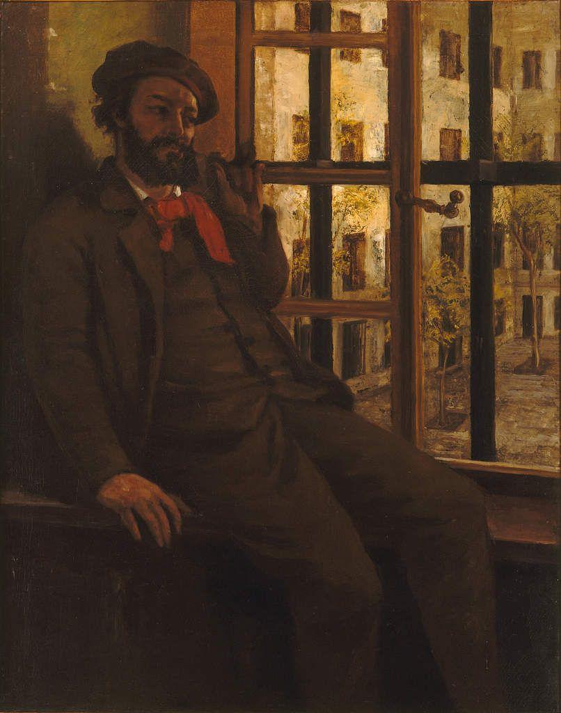 Courbet - Portrait de l'artise à Sainte Pélagie. Accusé d'avoir activement participé à la Commune, d'avoir usurpé des fonctions publiques en tant qu'élu au Conseil de la Commune (16 avril 1871) et de s'être rendu complice de la destruction de la colonne Vendôme, votée le 12 avril et renversée le 8 mai, Gustave Courbet (1819-1877) est arrêté le 7 juin 1871. Son procès devant le troisième Conseil de guerre commence le 7 août suivant. Après deux mois d'audiences, le jugement est prononcé le 2 septembre : le peintre est condamné à six mois de prison et 500 francs d'amende.