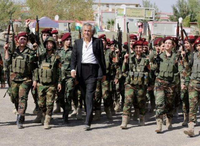 BHL et les combattant(e)s Kurdes en Syrie