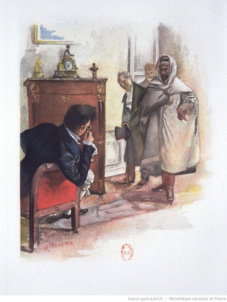 Henri de Marsay reçoit le messager de Paquita Valdès (...) lui présenta un personnage mystérieux qui voulait absolument lui parler à lui-même.