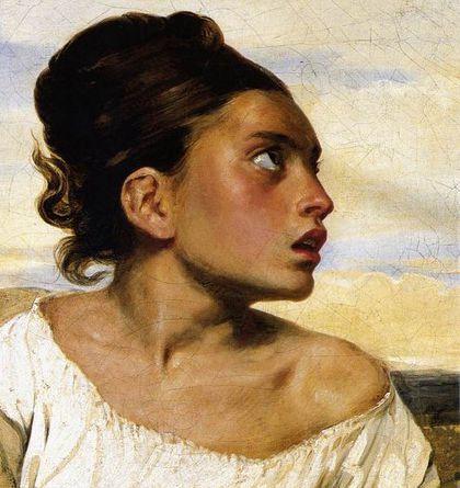 Eugène Delacroix -  Jeune Orpheline au cimetière 1823-1824