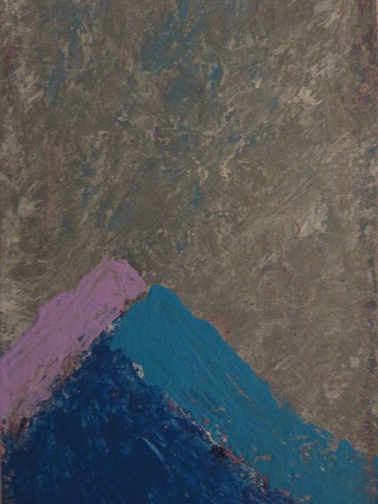 Les montagnes bleues - Technique mixte 30x15cm 2014