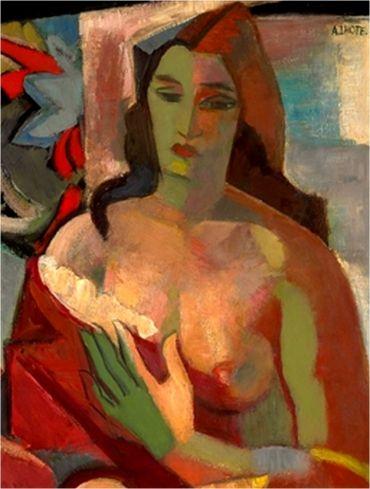 André Lhote - Femme en buste, vers 1924.