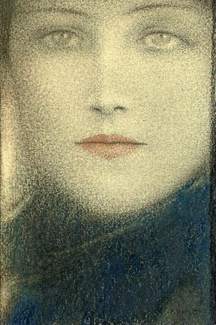 Fernand-Edmond-Jean-Marie Khnopff - Tête de femme 1910