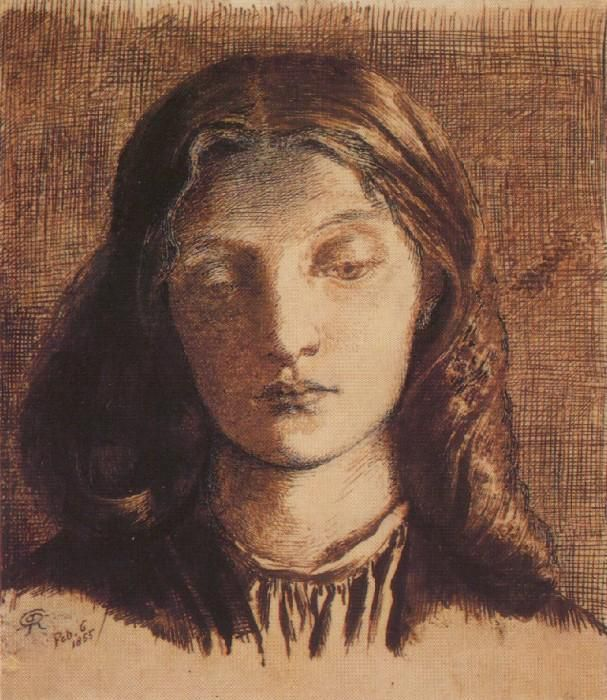 Dante Gabriel Rossetti - Portrait d'Elizabeth Siddal 1855