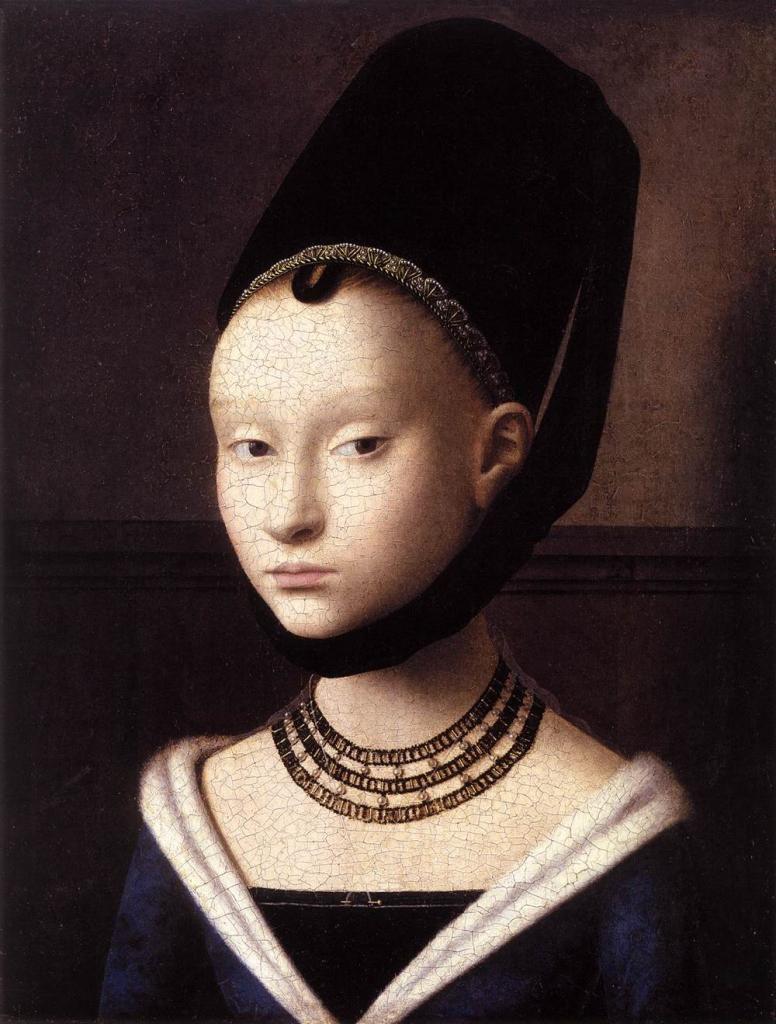 Petrus Christus - Portrait de jeune fille, vers 1470.