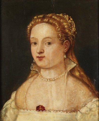 Le Tintoret - Portrait d'une jeune fille vers 1550