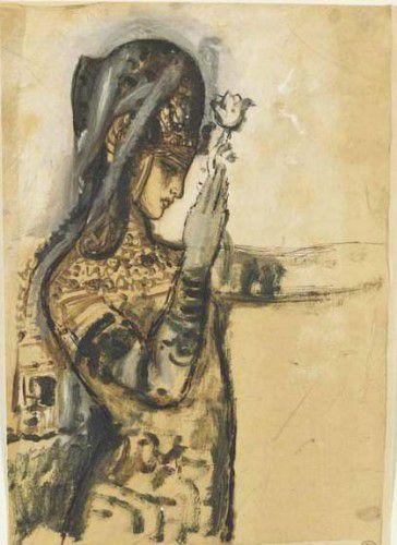 Gustave Moreau - Etude pour Salomé tatouée 1871