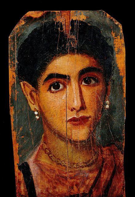 Portrait de jeune femme (2ème s., Fayum)
