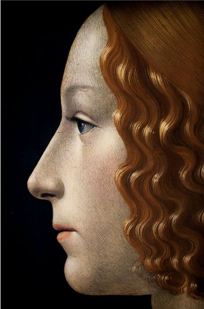 Domenico Ghirlandaio - Portrait de Giovanna Tornabuoni détail 1488