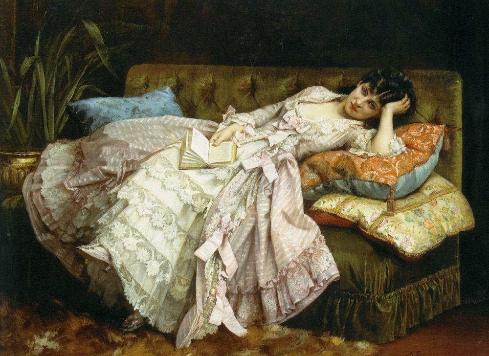 Auguste Toulmouche - Dolce fariente 1877