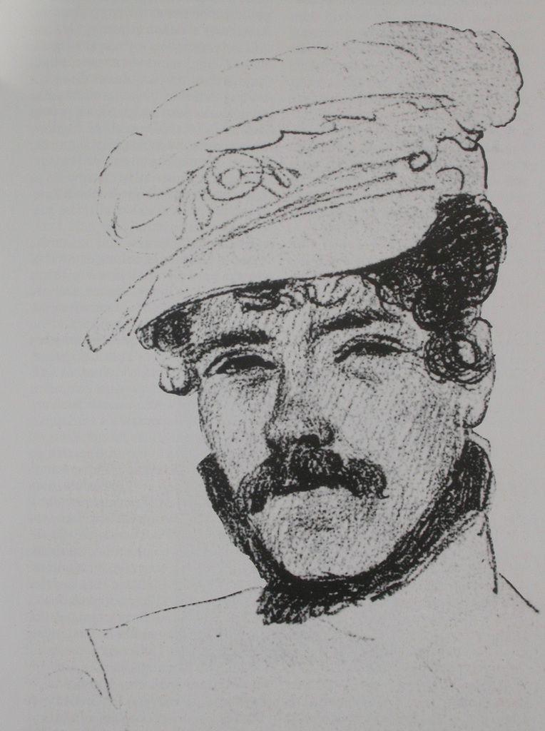 Autoportrait réalisé sur le navire qui l'emmenait à Tanger 1832