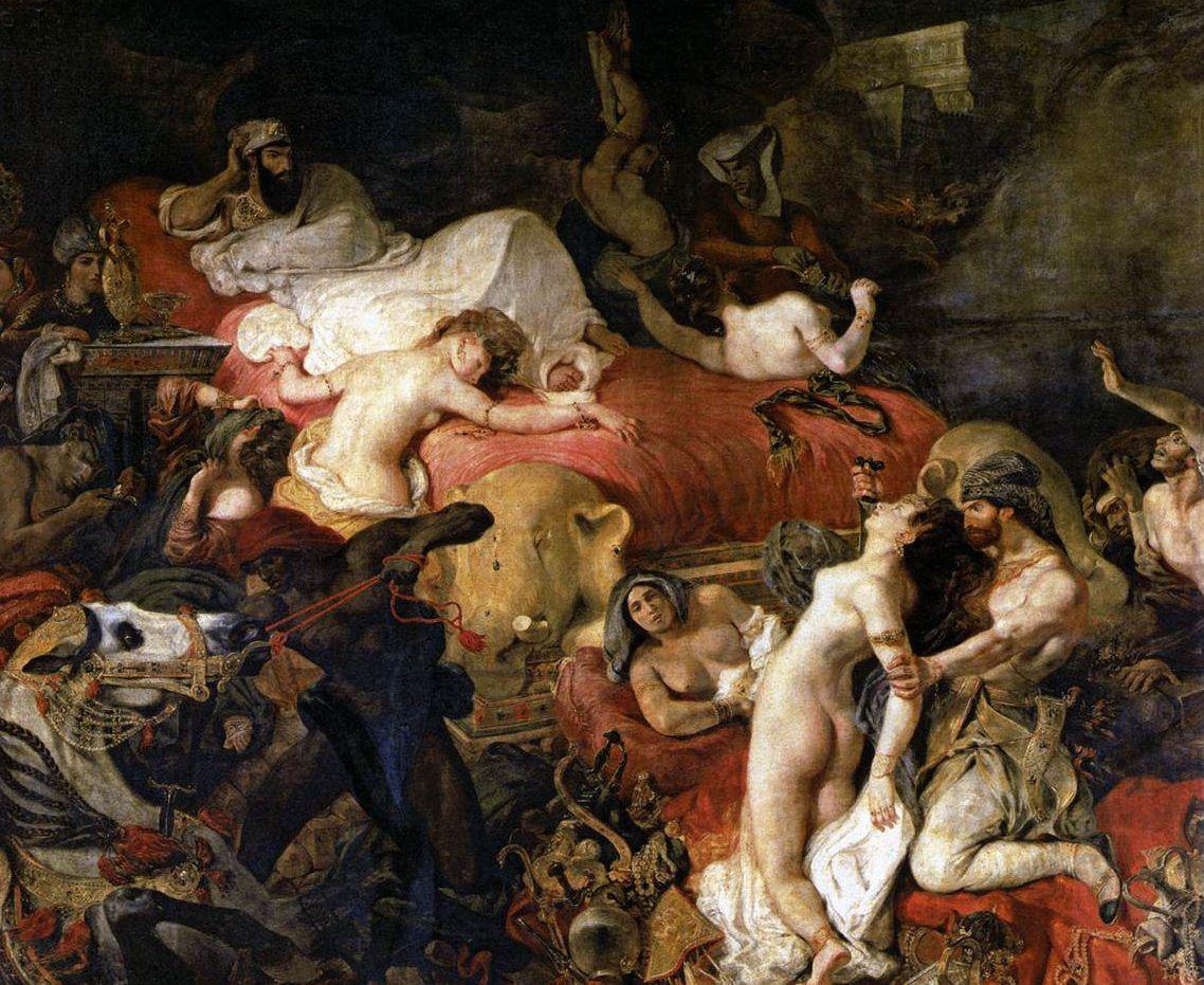 La mort de Sardanapale, 1827