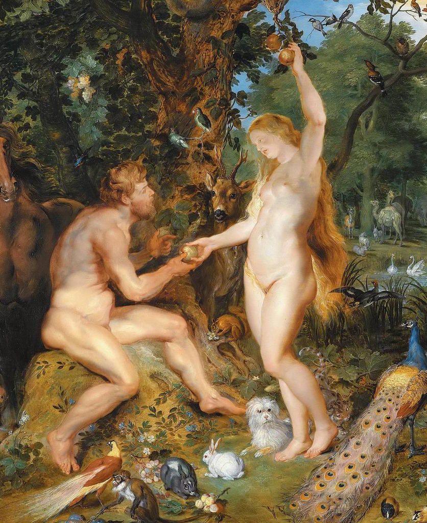 Adam et Eve, 1616 (détail)