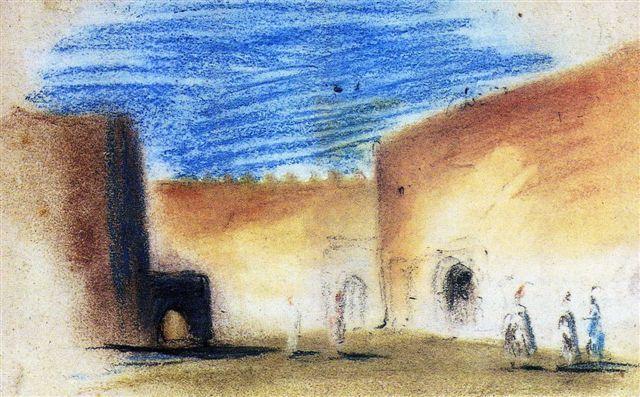 Les remparts de Meknes, 1832