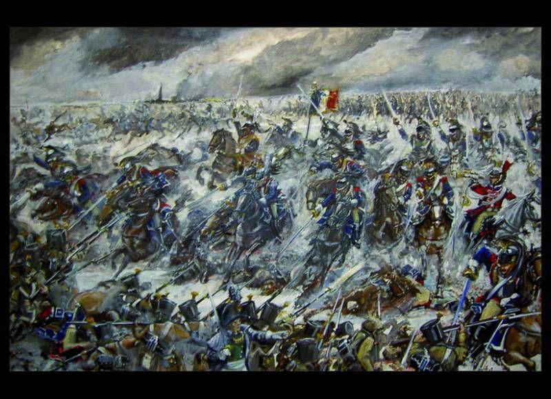 La bataille d'Eylau - Charge de cuirassiers