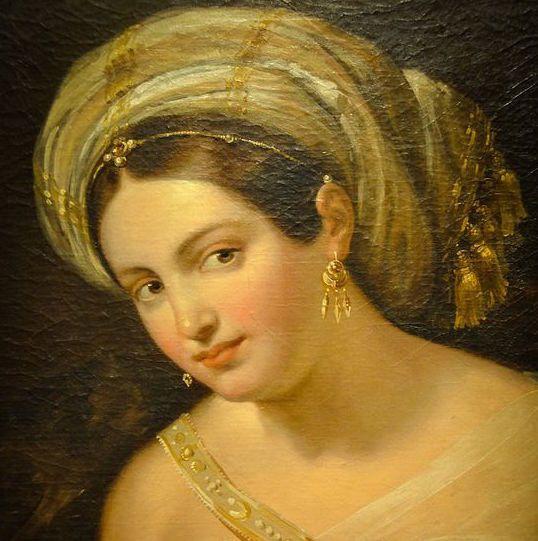 Rembrant Peale (peintre américain) - Femme au turban 1869