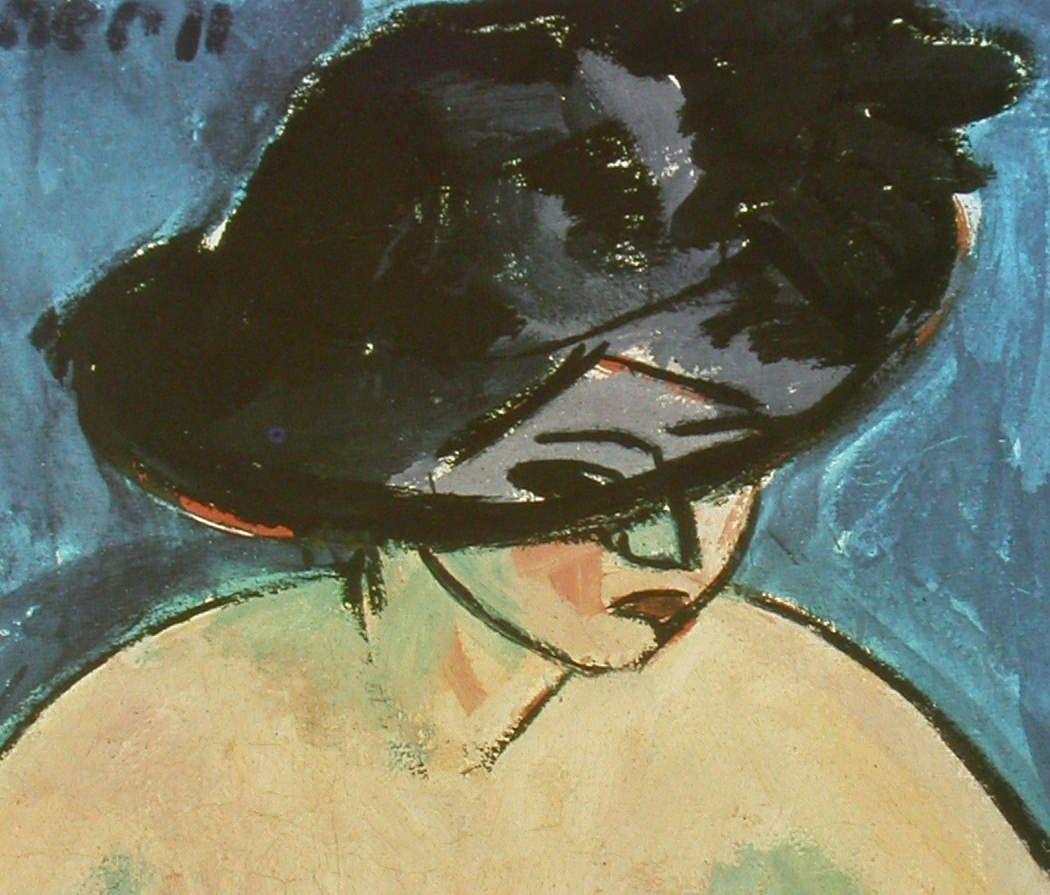Ernst Kirchner - Nu Féminin au chapeau 1911