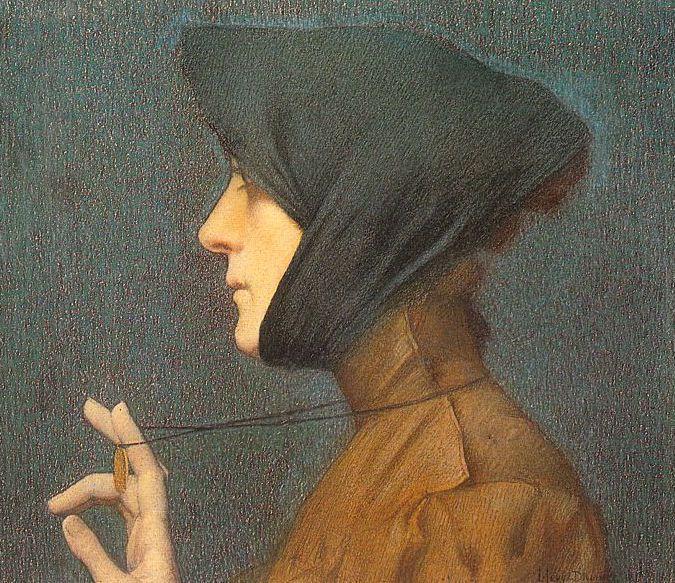 Lucien Lévy Dhurmer - La Femme à la Médaille 1896