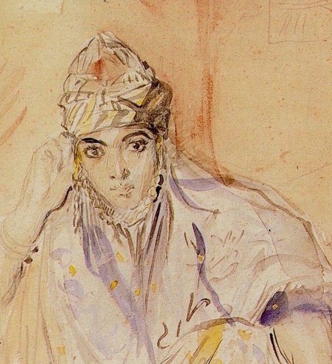 Théodore Chassériau - Juive algérienne assise (détail) 1846