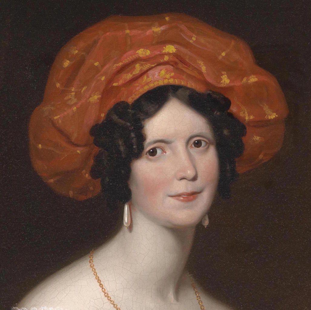 Franz Xaver Winterhalter (suiveur) - Femme au turban assise Seconde moitié du XIXème