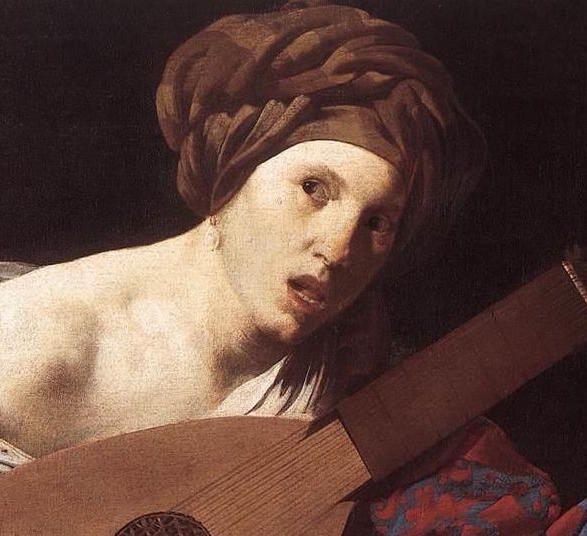 Hendrick ter Brugghen - Femme jouant du luth 1624- 1626