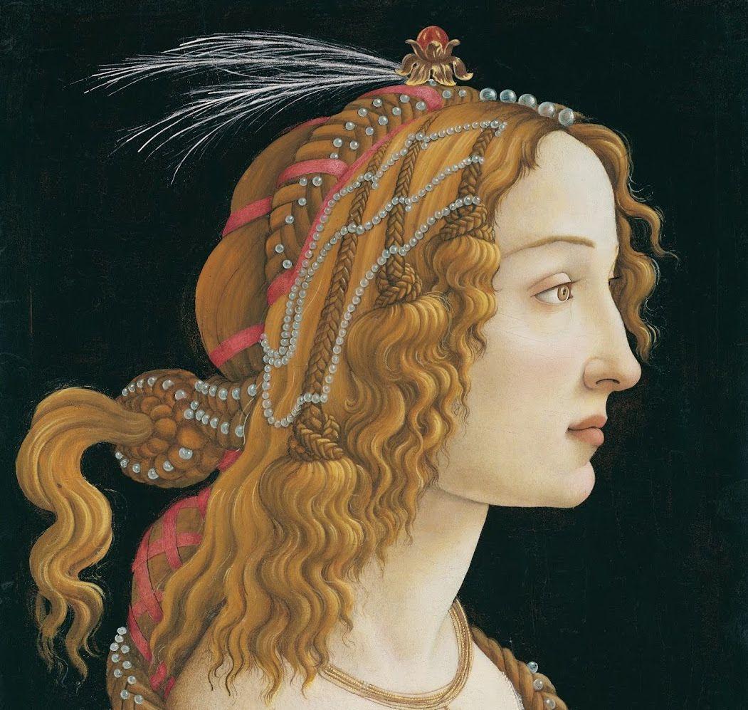 Sandro Botticelli - Portrait d'une jeune femme (Simoneta Vespucci) 1484
