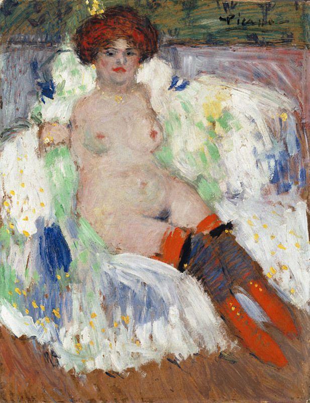 Pablo Picasso - Nu au bas rouge 1901