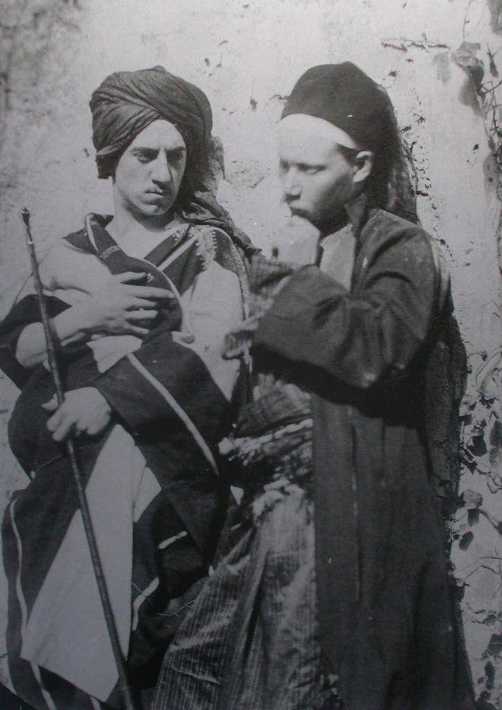Auguste Bartholdi, Autoportrait, avec J.L. Gérôme, s.d.j