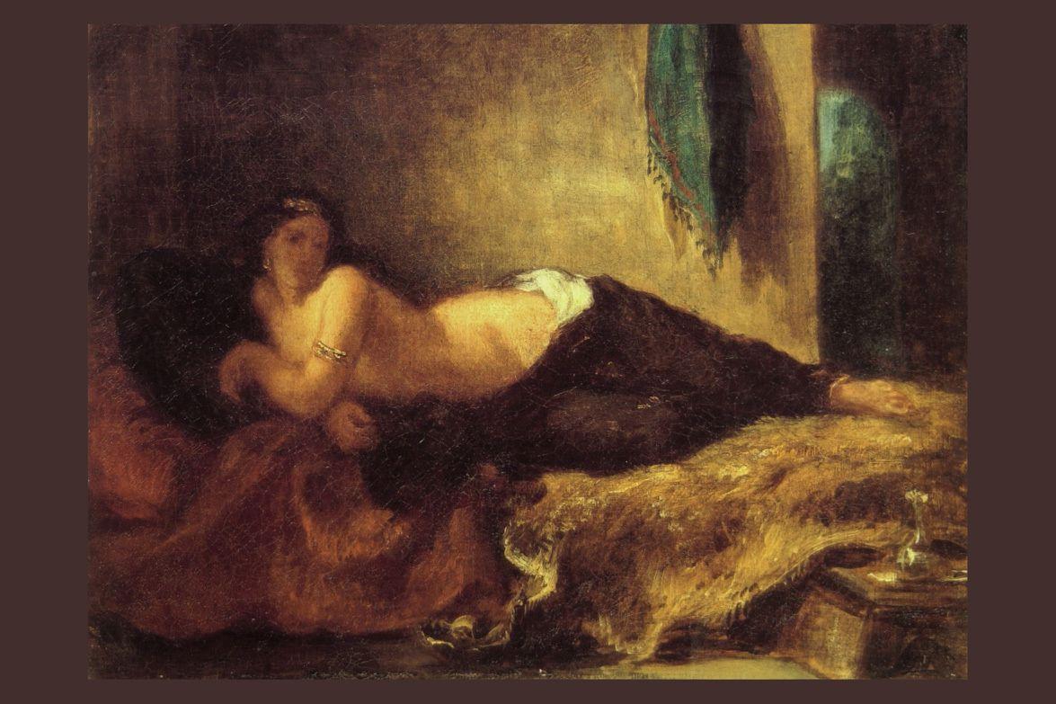 Eugène Delacroix - Odalisque, 1848