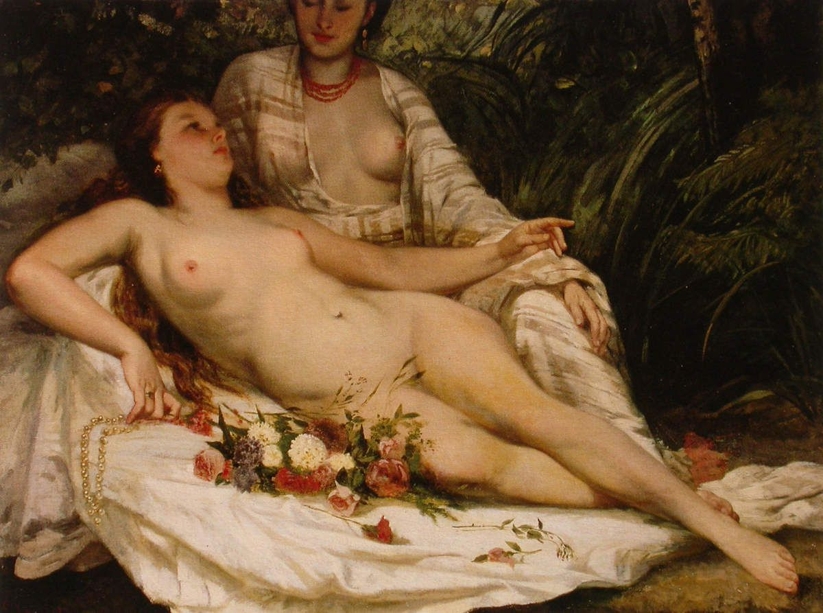 Gustave Courbet - Baigneuses, 1858