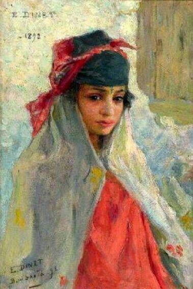 Etienne Dinet - Jeune fille de Bou-Saada, 1892