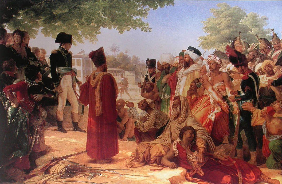 Pierre-Narcisse Guérin - Bonaparte faisant grâce aux révoltés de Caire, 1808