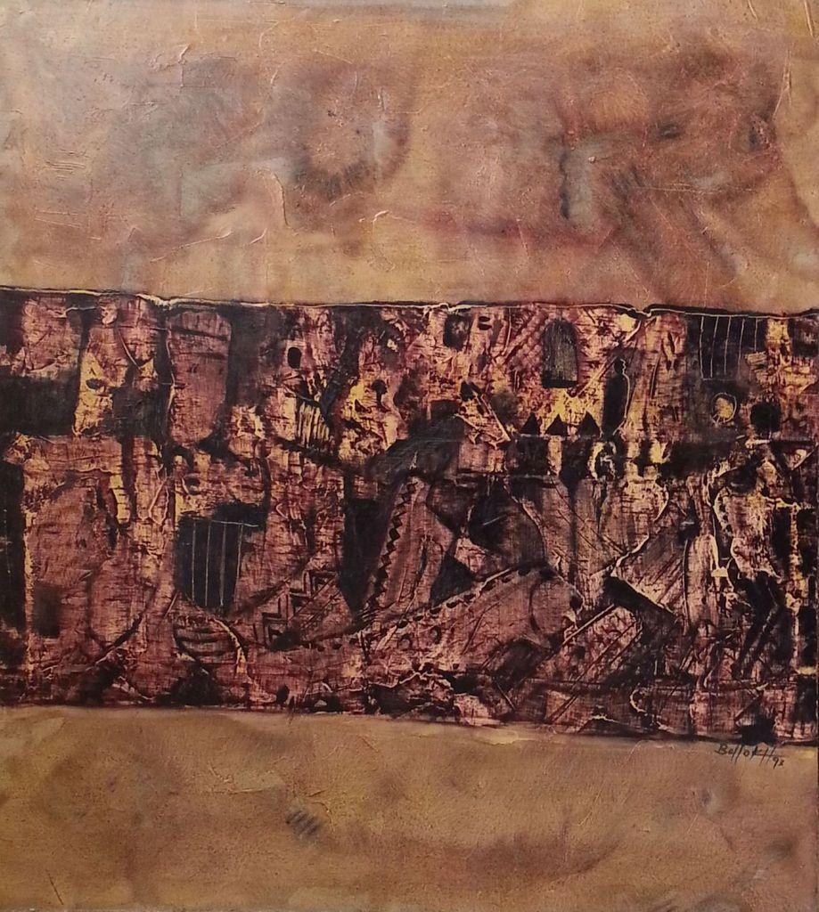 Sans titre - Huile sur toile, 90X90cm, 1994