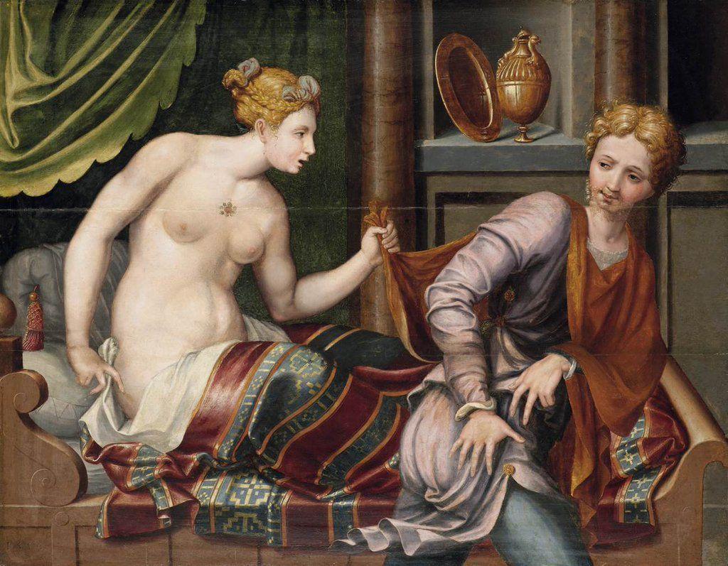 Ecole de Fontainebleau - Joseph et la femme de Putiphar vers 1560