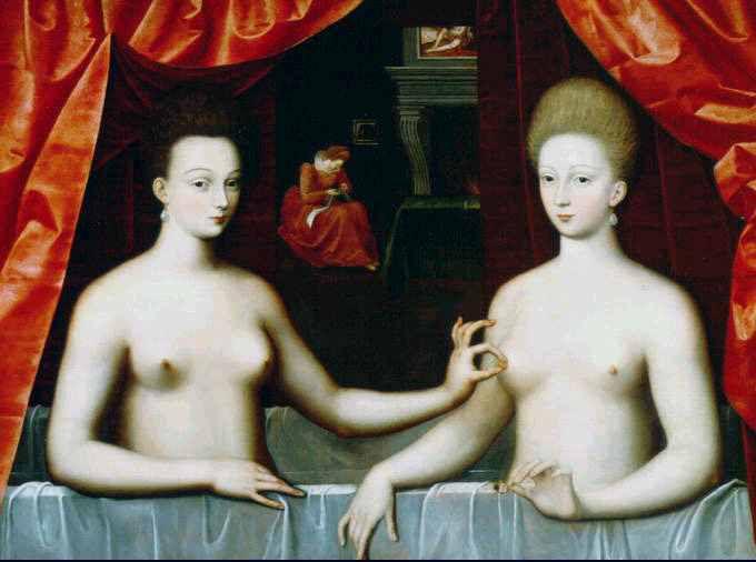 Ecole de Fontainebleau - Gabrielle d'Estrées et sa soeur vers 1590