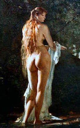 Paul Merwart - Venus callipyge aux cheveux longs
