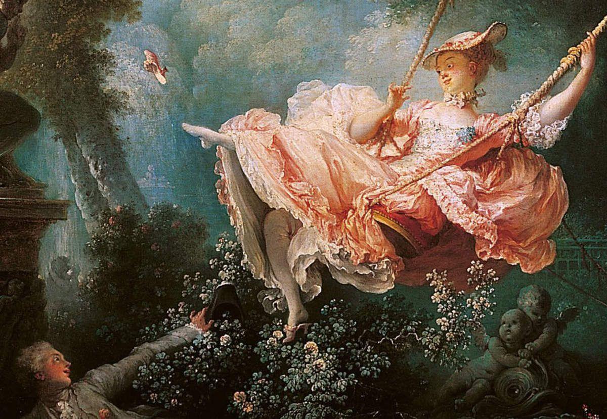 Fragonard - L'escarpolette (détail)