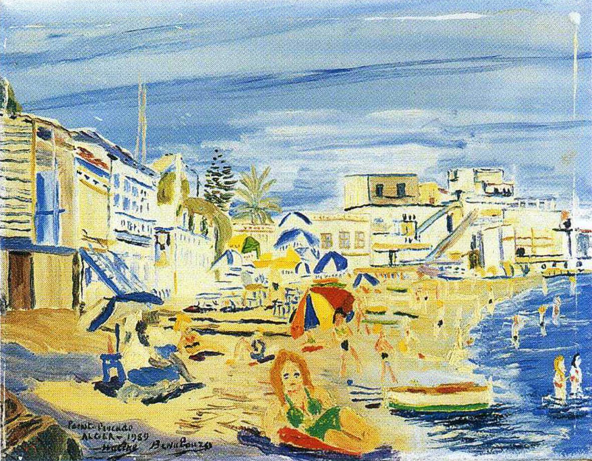 La pointe Pescade - Alger, Huile sur toile 32x41cm, 1959