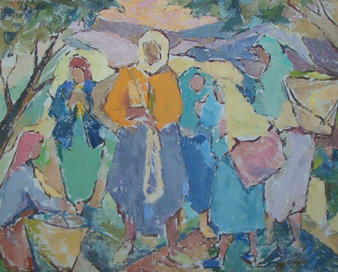 Femmes Kabyles du Chenoua, huile sur toile 1955