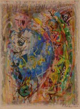 Suite IX - Technique mixte sur papier (gouache, encre, pastel) 48x58 cm, 2015