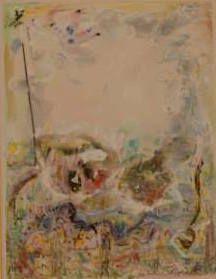 Suite VII - Technique mixte sur papier (gouache, encre, pastel) 48x58 cm, 2015